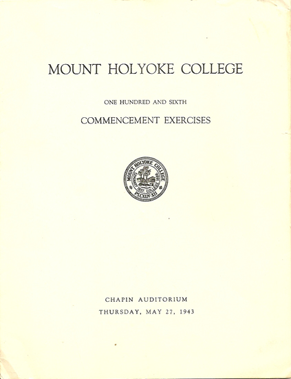 commencement speech at mount holyoke college That statement ties the whole speech together and because of the depth of it, is a fantastic closer quindlen's purpose of this commencement speech is to inform the audience, who are graduating students at mount holyoke college of the class of 1999, of perfection and how people's standards can blur your vision of who you want to be.