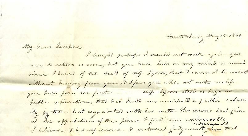Miss Caroline Letter Paper